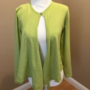 🔥30%OFF🔥Ann Klein green Cardigan jewel on Button